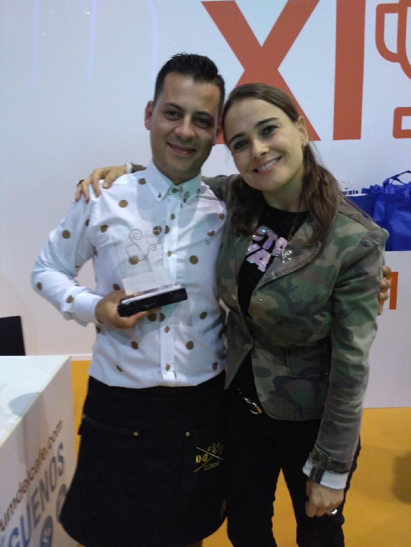 Raquel con Javi Thalys (Campeon Barista 2016)